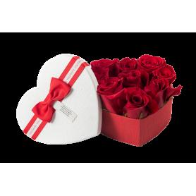 Coração com rosas de paixão