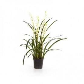 Planta Artificial Orquidea Cymbidium Rosa
