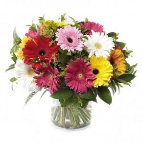 Jarra de Flores Naturais Cores Variadas - Aguarela de Gerberas