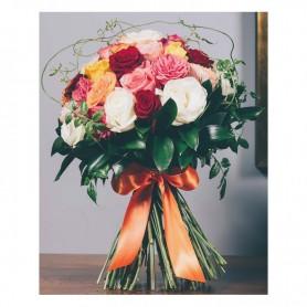 Ramo de Rosas coloridas variadas para o seu amor - Amália
