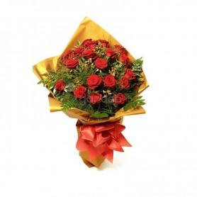 Ramo de rosas vermelhas naturais com amor - JUSTICEIRO
