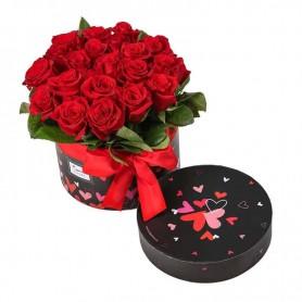 Caixa de Rosas dos Namorados com 20 Rosas Vermelhas - LOVE ROSE