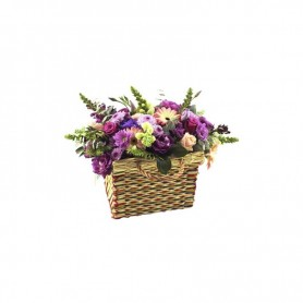 Cesta campestre com as flores da época - MALVEIRA