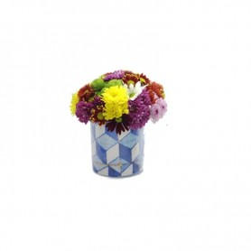 Arranjo de flores campestres - Painel de Azulejos