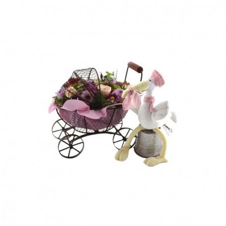 Flores para felicitações de nacimento de menina - CARRINHO MARIANA