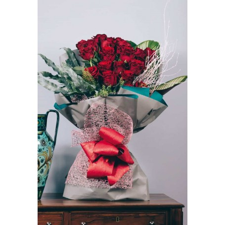 Atraente ramo de Rosas Vermelhas  - PALÁCIO