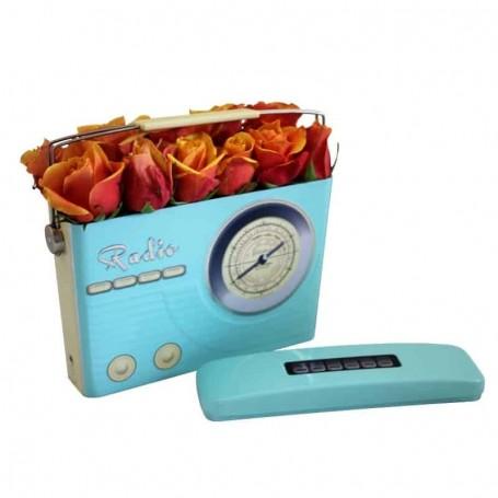 Caixa com Rosas cor de laranja - ROSAS no RÁDIO