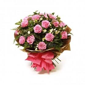 Bouquet de Rosas lindas cor de rosa - VITORIOSO