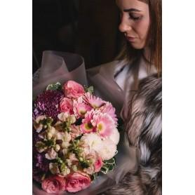 Ramo de flores campestres com rosas e margaridas - WILD FLOWERS BOUQUET