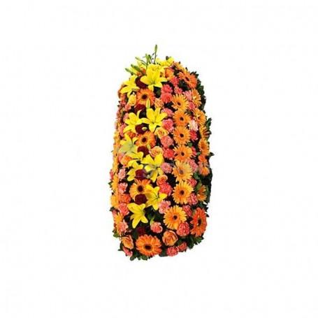 Palma de flores com coroas imperiais para velório - TRIBUTO