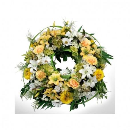 Coroa de flores naturais para velório - Rosas e Coroas Imperiais