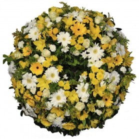 Coroa flores de funeral - GRANDE