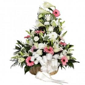 Arranjo floral fúnebre para velório e funeral - PAZ