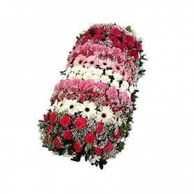 Palma flores de funeral com rosas e cravos - AMIGOS