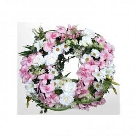 Coroa de orquídeas com flores variadas para funeral
