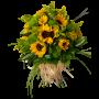 Ramo de flores campo de girassóis