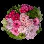 Jarro de Flores tons de rosa