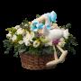Cesto de flores maternidade - Kit Menino