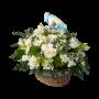 cesto flores nascimento menino