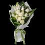 bouquet Rosas Brancas - Rainha do Amor