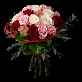 Bouquet de Rosas Coloridas para Pessoas Românticas - ABBA