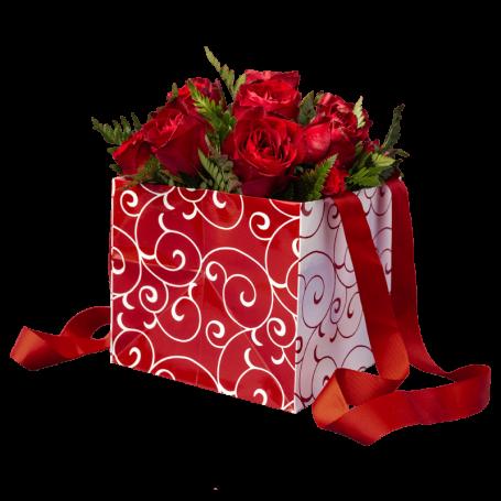 Arranjo de Rosas Vermelhas para um Romântico Incurável - INTENSO