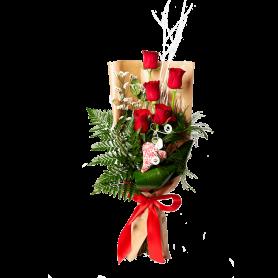 ramo de rosas - 5 rosas de viana