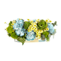 Caixa de Flores da época com cravos
