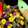 Cesta de Flores Campestres com Margaridas