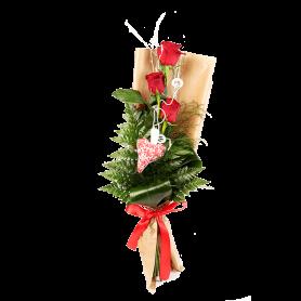 Ramo com 3 Rosas vermelhas - Rosa de Viana