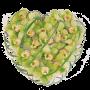 Coração de flores para velório com orquídeas - J
