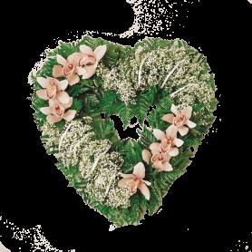 Coração de Flores para Funeral com Orquídeas - K
