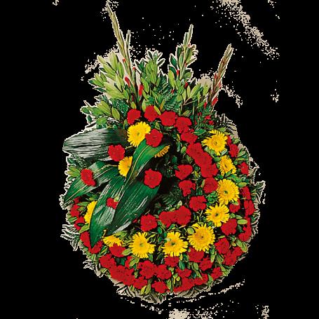 Coroa de Flores para Velório com Gerberas e Cravos - B