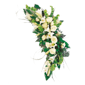 Arranjo de Flores para Funeral com Rosas - T