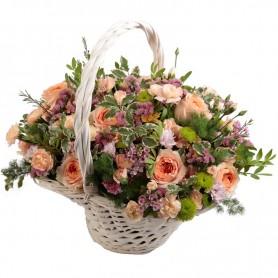 Cesta de Rosas para quem ame Flores - Tia Lili