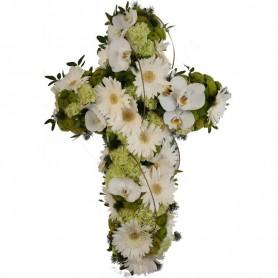 Cruz Fúnebre com Orquídeas W
