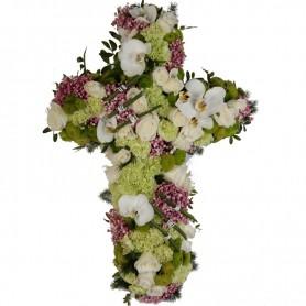 Cruz Fúnebre com Flores Nobres - CRUZ DA PARTIDA