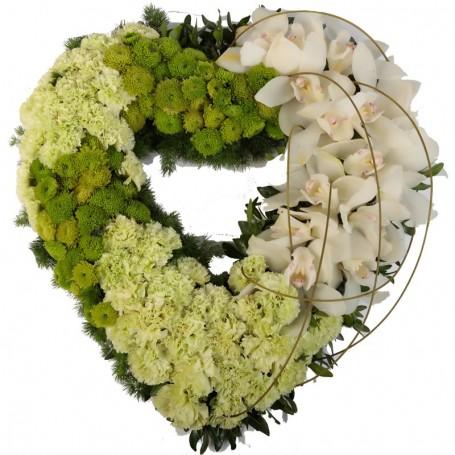 Arranjo Floral Coração Fúnebre da DESPEDIDA