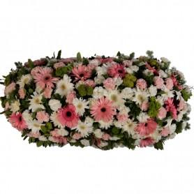 Palma Fúnebre para Funeral com Flores Naturais Variadas - N