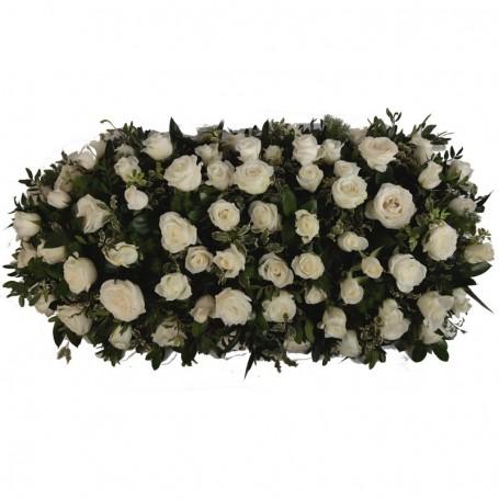 Palma de Flores com Rosas para Velório e Funeral - LUXO