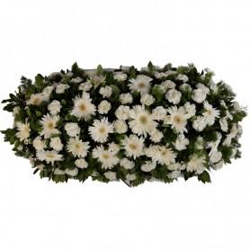 Palma de Flores para Funeral com GERBERAS e Cravos - P